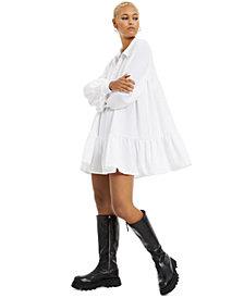 Danielle Bernstein Textured Woven Baby-Doll Mini Dress, Created for Macy's
