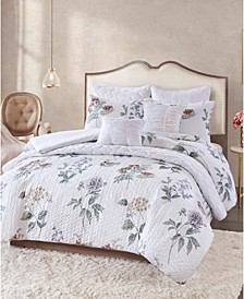 Zinnia 8-Pc. Quilted Queen Comforter Set