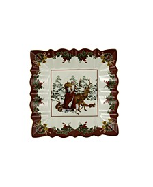 Toys Fantasy Square Bowl, Santa with forest animals