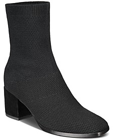 Ohm Stretch Knit Block-Heel Booties