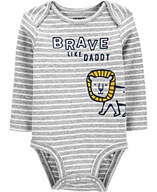 Baby Boy Brave Like Daddy Original Bodysuit