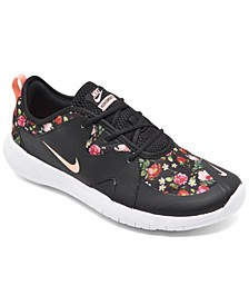 Girls Flex Contact 3 Vintage Inspired Floral Slip-On Running Sneakers from Finish Line