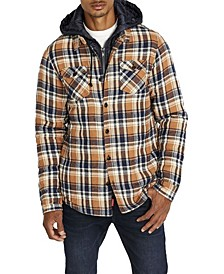 Samira Men's Hooded Plaid Shirt