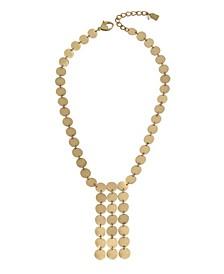 Disc Fringe Necklace