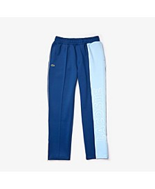 Men's LIVE Colorblock Neoprene Track Pants with Side Stripe and Logo