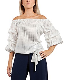Off-The-Shoulder Side-Tie Top