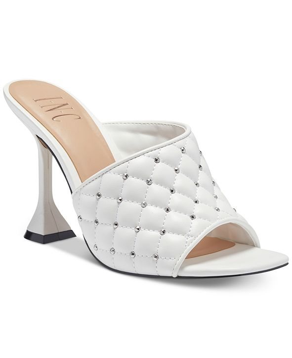 INC International Concepts I.N.C. Women's Nenna Quilted High-Heel Mules, Created for Macy's