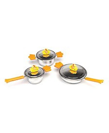 Sheriff Duck Children's Stainless Steel 6-Pc. Cookware Set