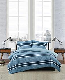 Mitchell Stripe 3 Piece Comforter Set, King
