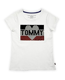 Little Girls Tommy Sequin Tee