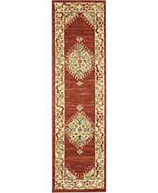 """Traditional Antique TRQ03 Red 2'2"""" x 7'6"""" Runner Rug"""