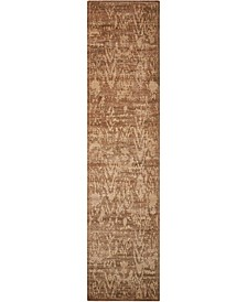 "Silken Allure SLK17 Chocolate 2'5"" x 10' Runner Rug"