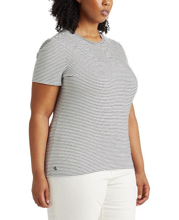 Lauren Ralph Lauren Plus Size Ribbed T-Shirt