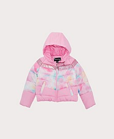 Toddler Girls Tie Dye Colorblock Jacket
