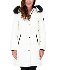 Petite Faux-Fur-Trim Hooded Parka, Created for Macy's