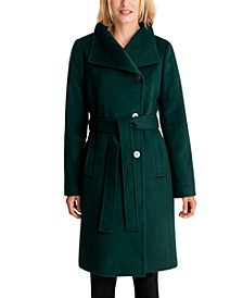 Asymmetrical Belted Coat, Created for Macy's
