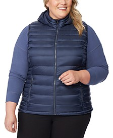 Plus Size Hooded Packable Water-Resistant Puffer Vest, Created for Macy's