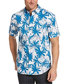 Men's Stretch Palm-Print Shirt