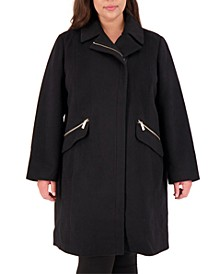 Plus Size Asymmetrical Coat