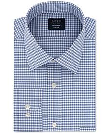 Men's Classic/Regular-Fit Non-Iron Performance Stretch Check Dress Shirt