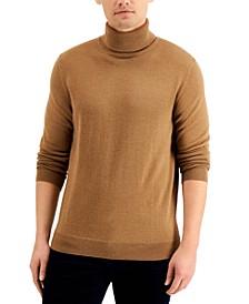 Men's Merino Wool Blend Turtleneck, Created for Macy's
