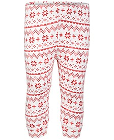 Baby Boys & Girls Fair Isle Jogger Pants, Created for Macy's