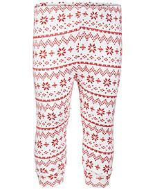 Baby Boys & Girls Fair Isle Jogger Pants, Created for Macy's