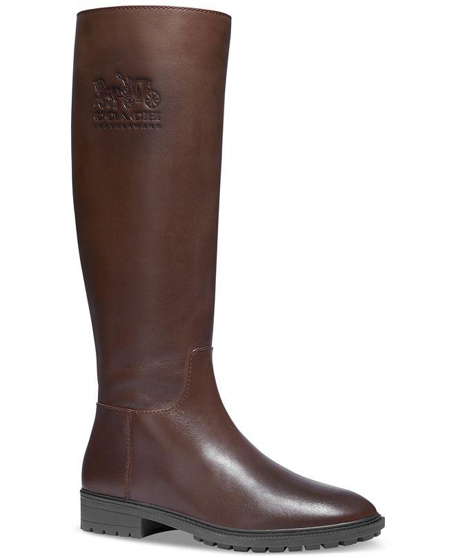 COACH Women's Fynn Wide-Calf Riding Boots