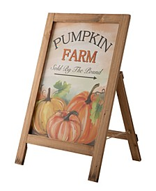 "24"" Fall Wooden Porch Sign or Standing Decor"