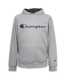 Embroidered Signature Big Boys Fleece Hoodie