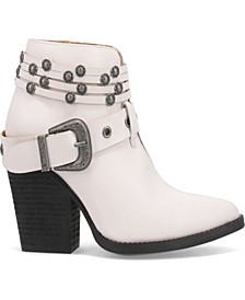 Women's Born to Run Leather Bootie