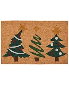 """Holiday Trees 18"""" x 28"""" Door Mat"""
