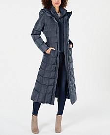 Hooded Down Maxi Puffer Coat