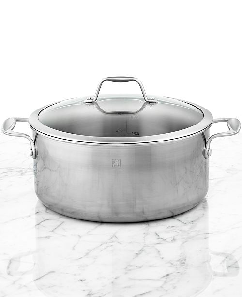 Zwilling Spirit Polished Stainless Steel 8 Qt Covered Dutch Oven