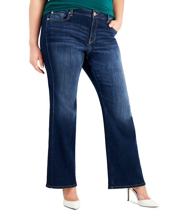 INC International Concepts INC Plus Size Elizabeth Bootcut Denim Jeans, Created for Macy's