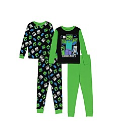 Little and Big Boys 4-Piece Pajama Set