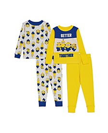 Minions Toddler Boys 4-Piece Pajama Set