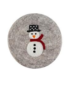 Wool Snowman Trivet