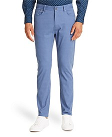 Tallia Men's Slim-Fit Navy Check Pants and a Free Face Mask With Purchase