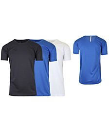 Men's Short Sleeve Moisture-Wicking Quick Dry Performance Tee, Pack of 3