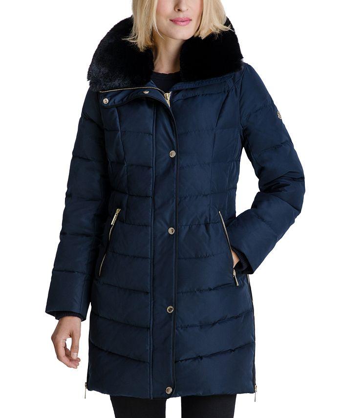 Michael Kors - Faux-Fur Collar Puffer Coat