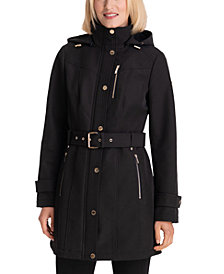 MICHAEL Michael Kors Hooded Belted Raincoat, Created for Macy's