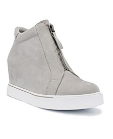 Women's Glitz Zip-Front Wedge Sneakers
