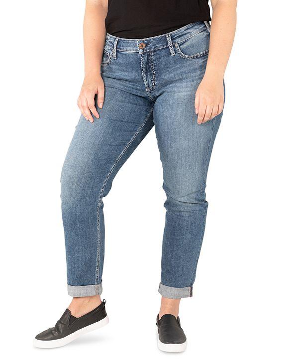 Silver Jeans Co. Plus Size Boyfriend Jeans