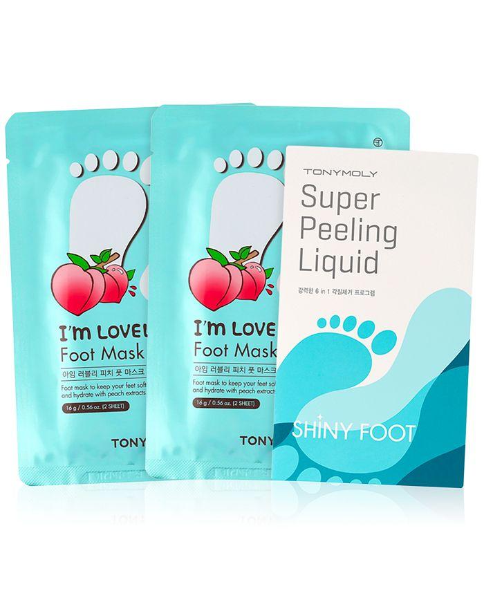 TONYMOLY - 3-Pc. I'm Lovely Peach Foot Mask Set