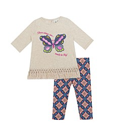 Baby Girls Butterfly Applique Set