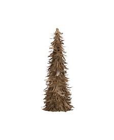 "18"" Feather Tree Figurine"