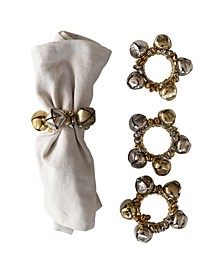 Metal Jingle Bell Napkin Rings Set of 4 Pieces