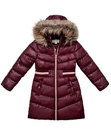 Little Girls Walker Length Puffer Jacket