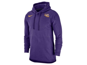 Nike Men's Lsu Tigers Hooded Long Sleeve T-Shirt